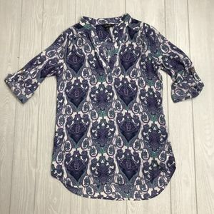 Justify 3/4 Length Sleeve Tunic Top size Medium
